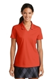 Women's Nike Golf Shirt Dri-FIT Micro Pique Polo Shirt Team Orange Thumbnail