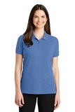 Women's EZ-Cotton Polo Blue Heather Thumbnail