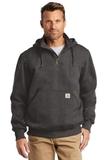 Carhartt Rain Defender Paxton Heavyweight Hooded Zip Mock Sweatshirt Carbon Heather Thumbnail