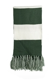 Spectator Scarf Forest Green with White Thumbnail
