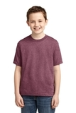 Youth 50/50 Cotton / Poly T-shirt Vintage Heather Maroon Thumbnail