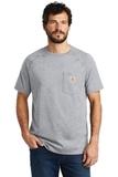Carhartt Force Cotton Delmont Short Sleeve T-Shirt Heather Grey Thumbnail