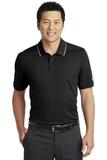 Nike Golf Dri-FIT Edge Tipped Polo Black with White Thumbnail