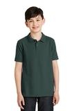 Youth Silk Touch Polo Shirt Dark Green Thumbnail