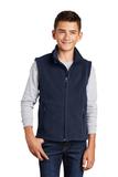 Youth Value Fleece Vest True Navy Thumbnail