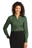Women's Crosshatch Easy Care Shirt Dark Cactus Green Thumbnail