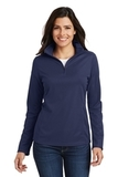 Women's Pinpoint Mesh 1/2 Zip Pullover True Navy Thumbnail