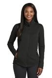 Women's Collective Smooth Fleece Jacket Deep Black Thumbnail