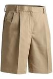 Women's Pleated Flat Front Short Khaki Thumbnail
