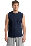 Ultra Cotton Sleeveless T-shirt Navy Thumbnail