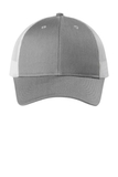 Low-Profile Snapback Trucker Cap Heather Grey with White Thumbnail