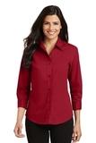Women's 3/4-sleeve Easy Care Shirt Red Thumbnail