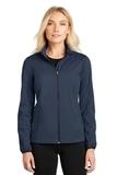 Women's Active Soft Shell Jacket Dress Blue Navy Thumbnail