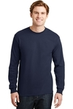 Dryblend 50 Cotton/50 Dryblend Poly Long Sleeve T-shirt Navy Thumbnail