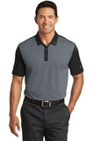 Nike Golf Dri-FIT Colorblock Icon Modern Fit Polo Dark Grey with Black Thumbnail