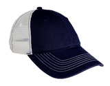 Mesh Back Cap New Navy with White Thumbnail