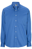 Redwood & Ross Men's No-iron Pinpoint Oxford Button Down Dress Shirt French Blue Thumbnail