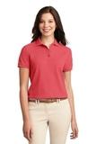 Women's Silk Touch Polo Shirt Hibiscus Thumbnail