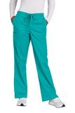 WonderWink Women's Tall WorkFlex Flare Leg Cargo Pant Teal Blue Thumbnail
