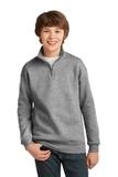 Youth 1/4-zip Cadet Collar Sweatshirt Oxford Thumbnail