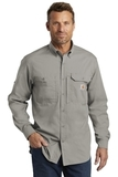 Carhartt Force Ridgefield Solid Long Sleeve Shirt Asphalt Thumbnail
