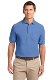 Silk Touch Polo Shirt With Pocket Ultramarine Blue Thumbnail