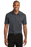 Silk Touch Performance Pocket Polo Steel Grey Thumbnail