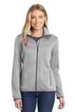Women's Sweater Fleece Jacket Grey Heather Thumbnail
