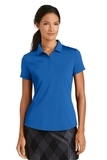 Women's Nike Golf Dri-FIT Smooth Performance Modern Fit Polo Gym Blue Thumbnail