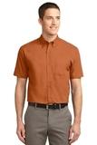Short Sleeve Easy Care Shirt Texas Orange with Light Stone Thumbnail