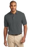 Tall Pique Knit Polo Shirt Steel Grey Thumbnail