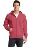 7.8-oz Full-zip Hooded Sweatshirt Heather Red Thumbnail