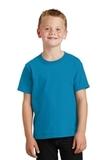 Youth 5.5-oz 100 Cotton T-shirt Neon Blue Thumbnail
