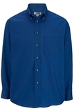 Men's Button Down Poplin Shirt LS Royal Thumbnail
