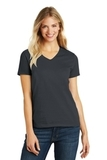 Women's Made Perfect Blend V-Neck Tee Charcoal Thumbnail