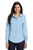 Women's Long Sleeve Non-iron Twill Shirt Sky Blue Thumbnail