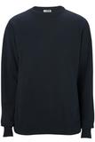 Edwards Crew Neck Cotton Blend Sweater Navy Thumbnail