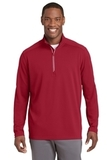 Sport-Wick Textured 1/4-Zip Pullover Deep Red Thumbnail