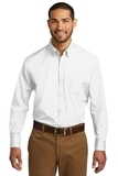 Port Authority Long Sleeve Carefree Poplin Shirt White Thumbnail
