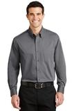 Tonal Pattern Easy Care Shirt Grey Thumbnail