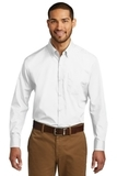 Port Authority Long Sleeve Carefree Poplin Shirt White Thumbnail