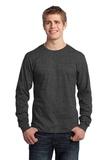 Long Sleeve 5.4-oz. 100 Cotton T-shirt Dark Heather Grey Thumbnail