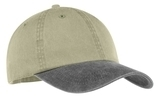 2-tone Pigment-dyed Cap Khaki with Charcoal Thumbnail