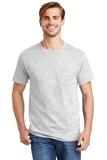 Tagless 100 Comfortsoft Cotton T-shirt With Pocket Ash Thumbnail