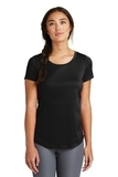 Women's New Era Series Performance Scoop Tee Black Solid Thumbnail