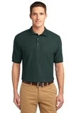 Extended Size Silk Touch Polo Shirt Dark Green Thumbnail