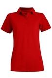 Women's Short Sleeve Blended Pique Polo Red Thumbnail
