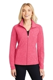 Women's Heather Microfleece Full-Zip Jacket Pink Raspberry Heather Thumbnail