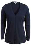 Women's Corporate Performance V-neck Longer Cardigan Navy Thumbnail