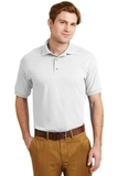 Ultra Blend 5.6-ounce Jersey Knit Sport Shirt White Thumbnail